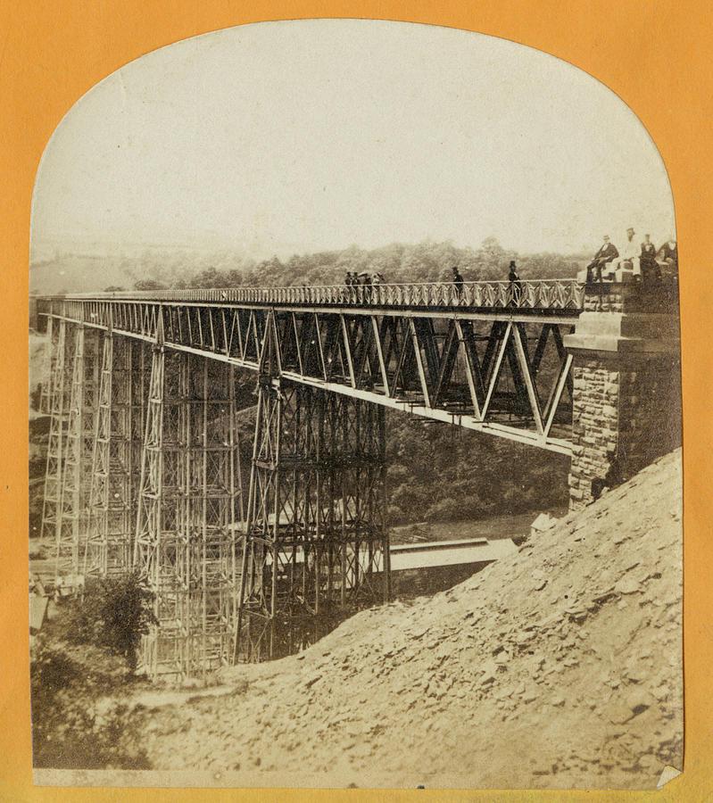 Crumlin Viaduct Photograph by London Stereoscopic Company