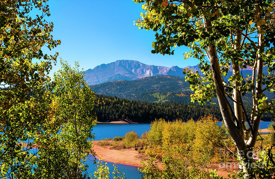 Crystal Reservoir And Pikes Peak In Autumn Photograph