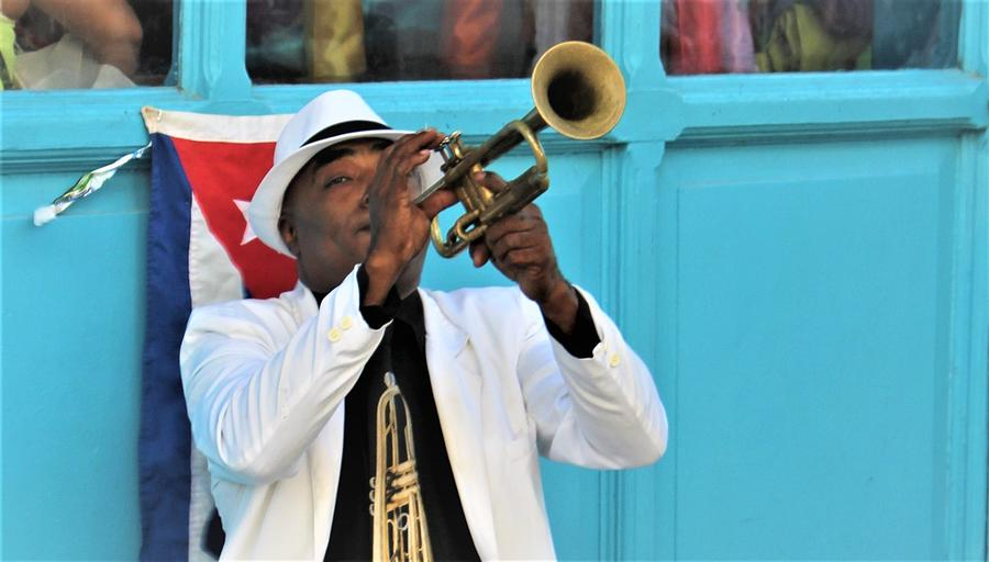 Cuban Trumpeter by FD Graham