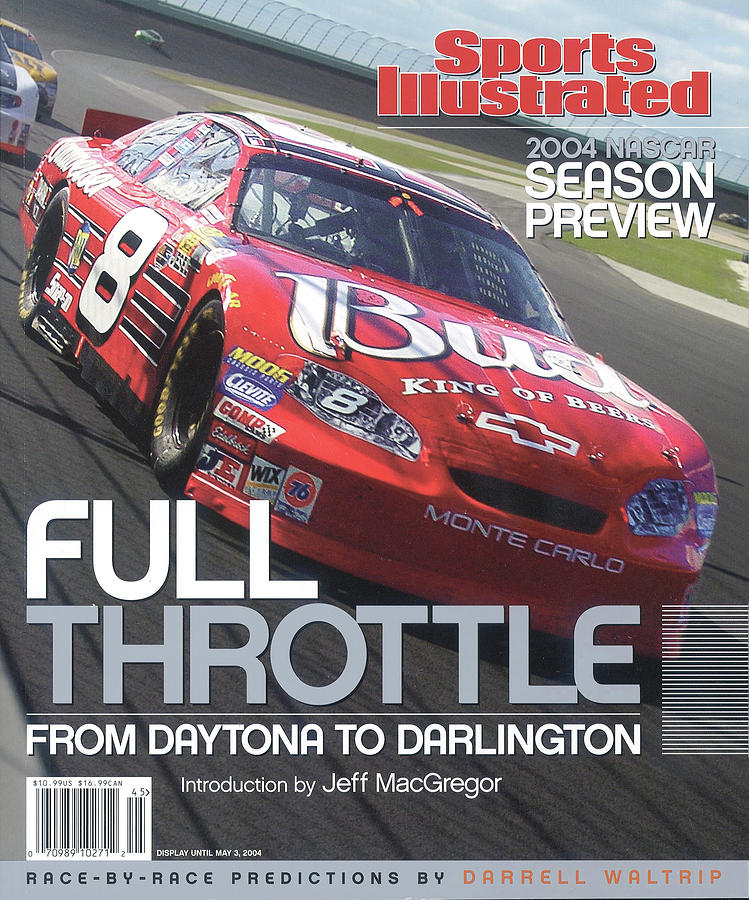 Dale Earnhardt Jr., 2004 Nascar Winston Cup Series Preview Sports Illustrated Cover Photograph by Sports Illustrated