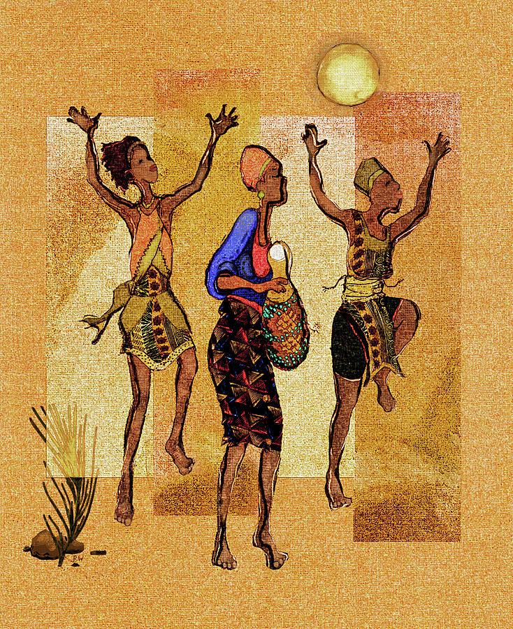 Africa Digital Art - Dance by Regina Wyatt