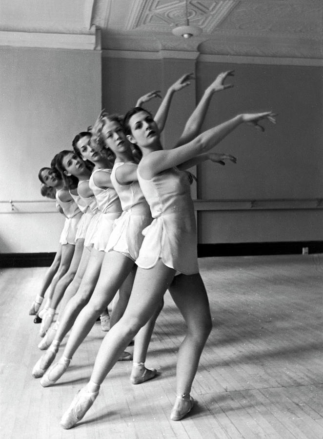 Dancers Ballerinas At George Balanchin Photograph by Alfred Eisenstaedt