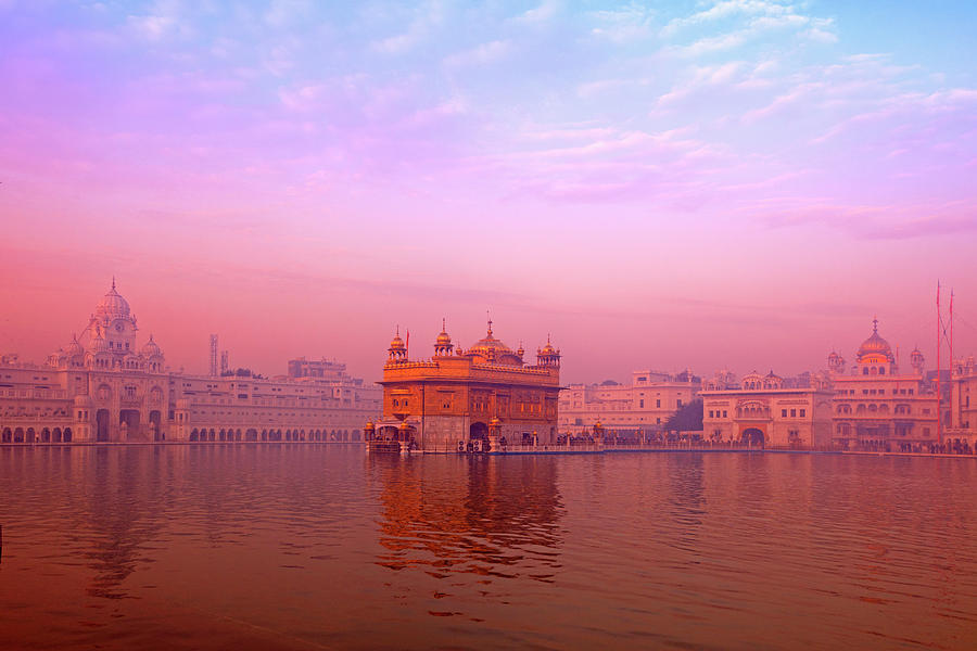 Dawn At The Golden Temple, Amritsar Photograph by Adrian Pope