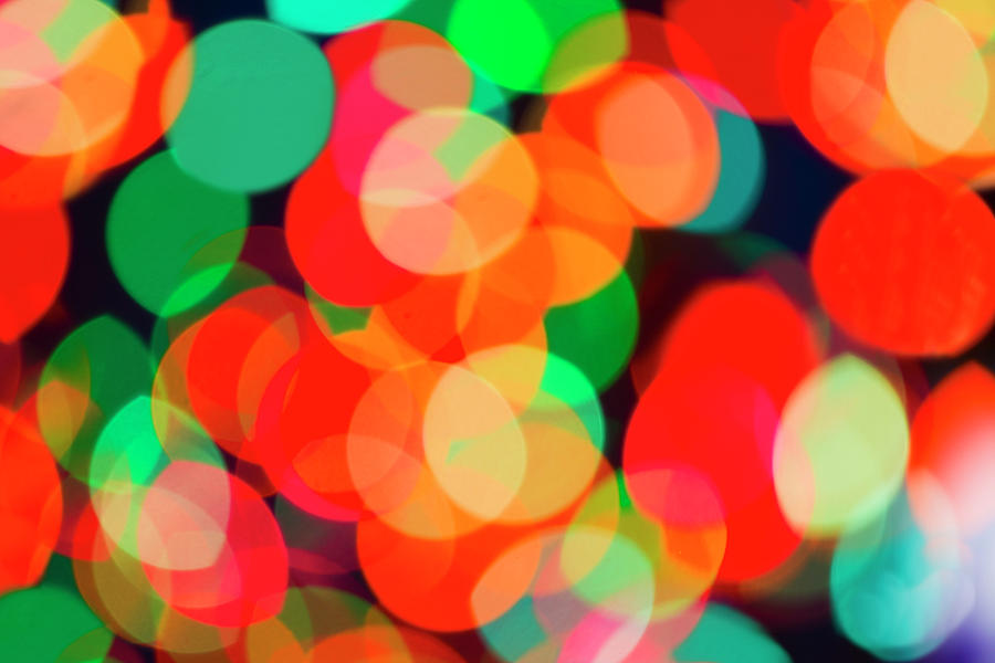 Defocused Lights Photograph by Tetra Images