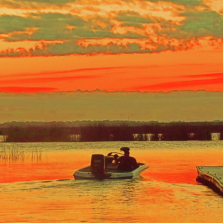 Delta Sunrise Fishing by Joseph Coulombe