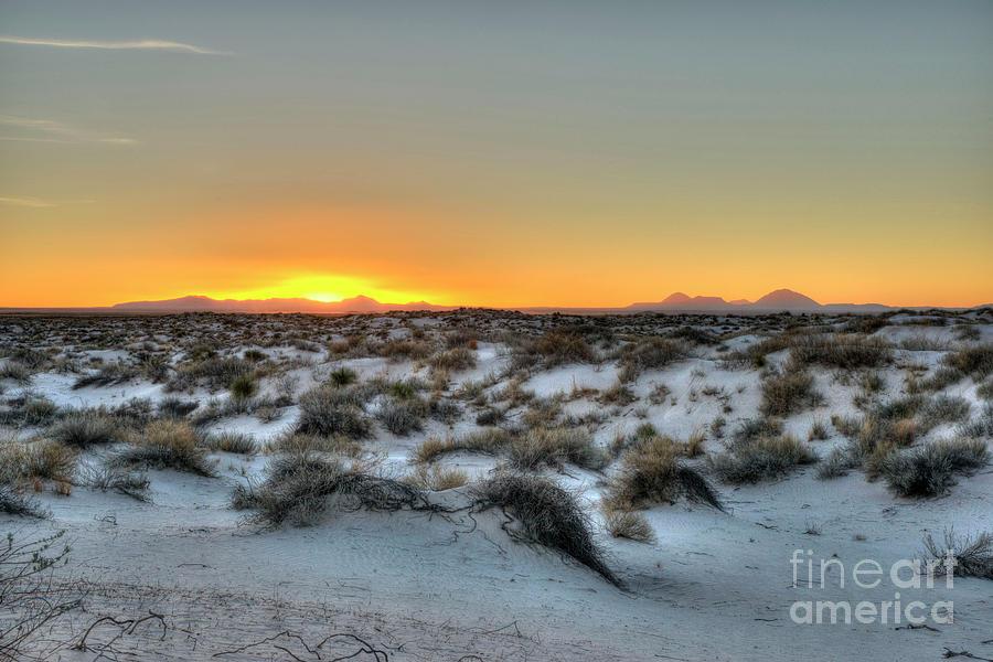 Sunset Photograph - Desert Sunset by Joe Sparks