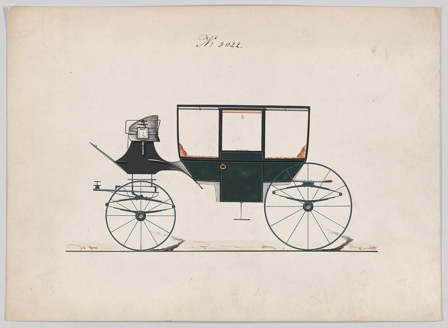 Design For Coach, No. 3022  1874 Painting