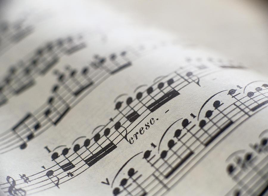 Detail Of Sheet Music Photograph by Ryan Mcvay