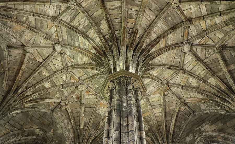 Detailed Ceiling  at Elgin Cathedral by Dave Mills