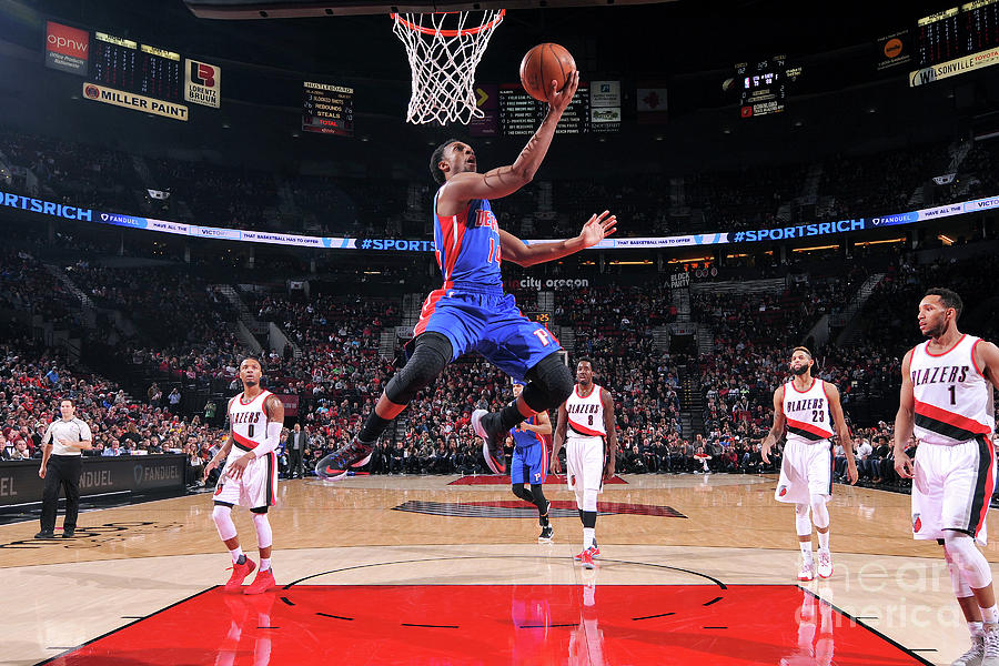 Detroit Pistons V Portland Trail Blazers Photograph by Sam Forencich