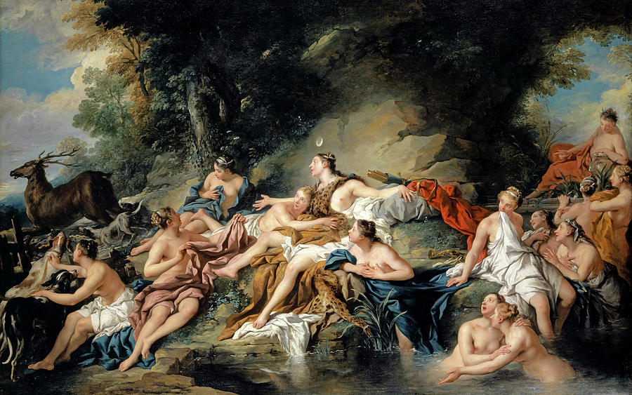 Jean Francois De Troy Painting - Diana And Actaeon by Jean-Francois de Troy