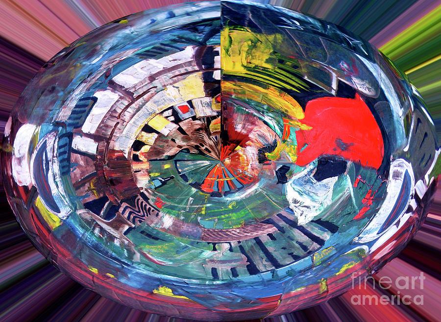 Digital Woman In Red by James Lavott