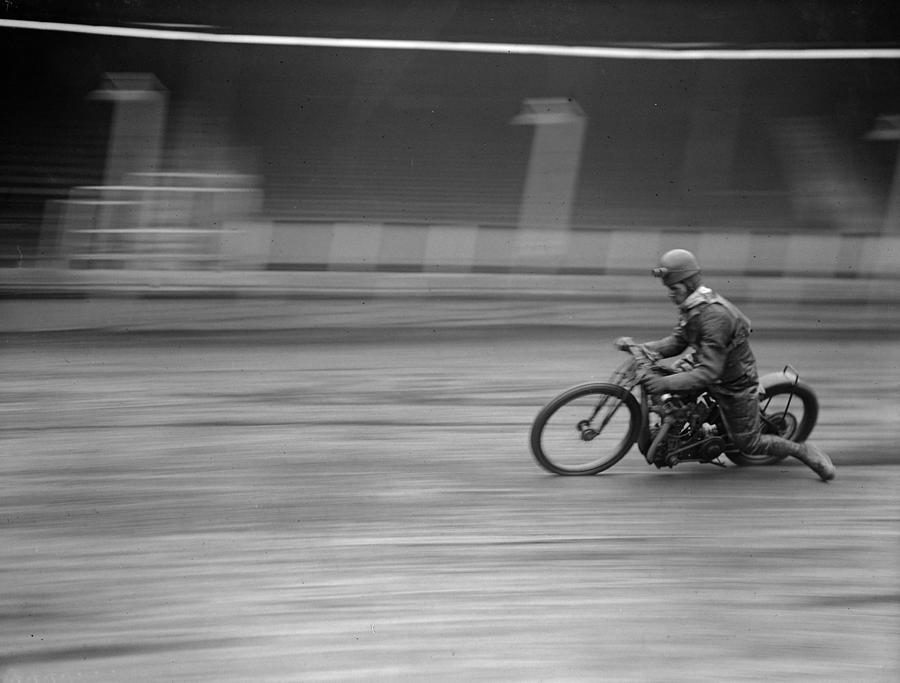 Dirt Track Racer Photograph by Fox Photos