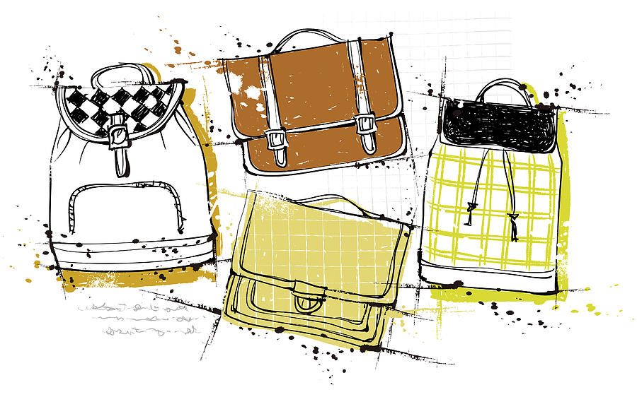 Diversity Of Bags Digital Art by Eastnine Inc.