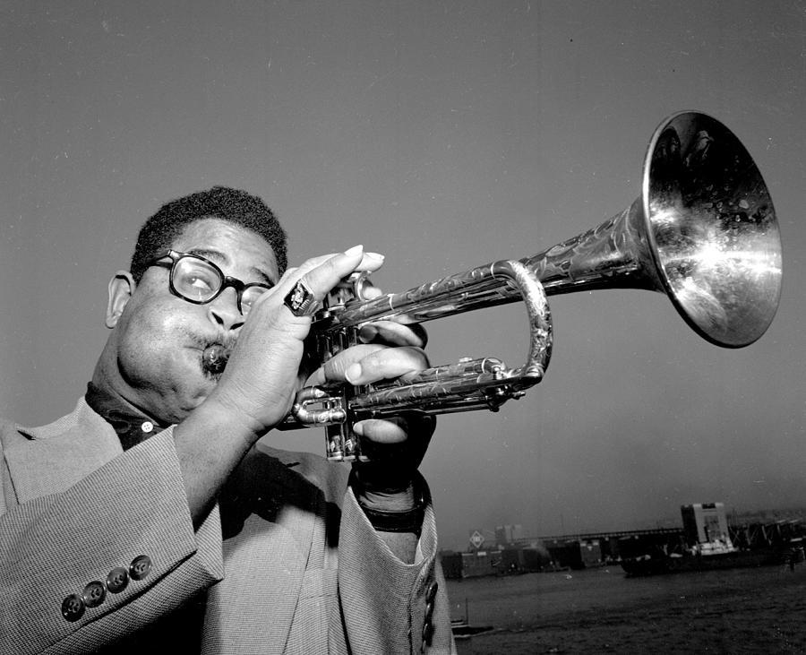 Dizzy Gillespie Puffs His Cheeks And Photograph by New York Daily News Archive