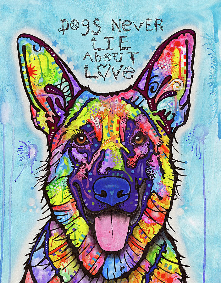 Domestic Dogs Mixed Media - Dogs Never Lie by Dean Russo
