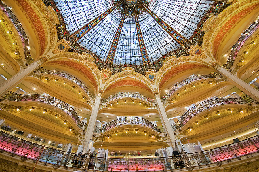 Dome And Balconies Of Galeries Photograph by Izzet Keribar