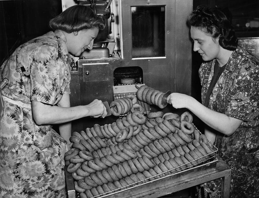 Doughnut Ladies Photograph by Reg Speller