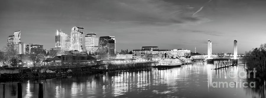 Downtown Sacramento dusk skyline by Ken Brown