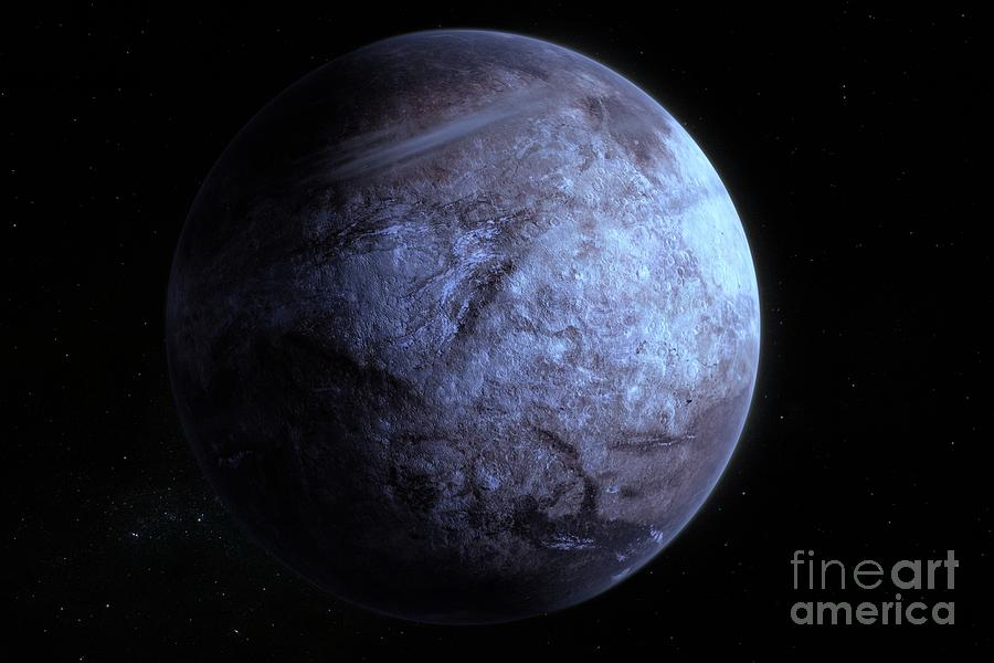 Exoplanet Photograph - Dry Exoplanet by Hypersphere/science Photo Library