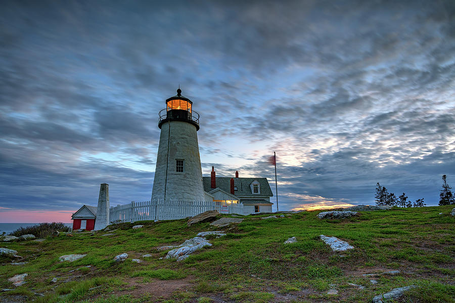 Twilight at Pemaquid Point by Rick Berk