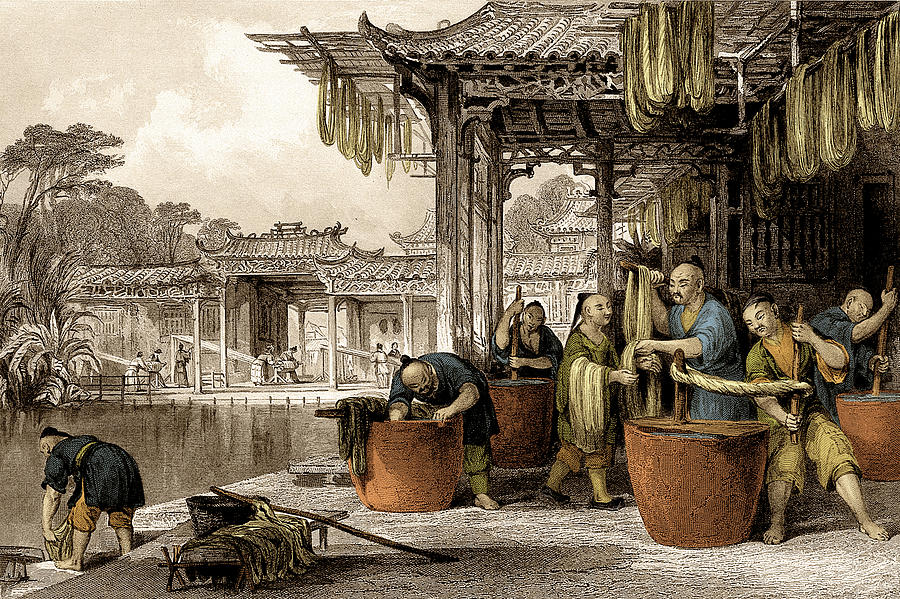 Dyeing And Winding, Silk Making In China by SCIENCE SOURCE