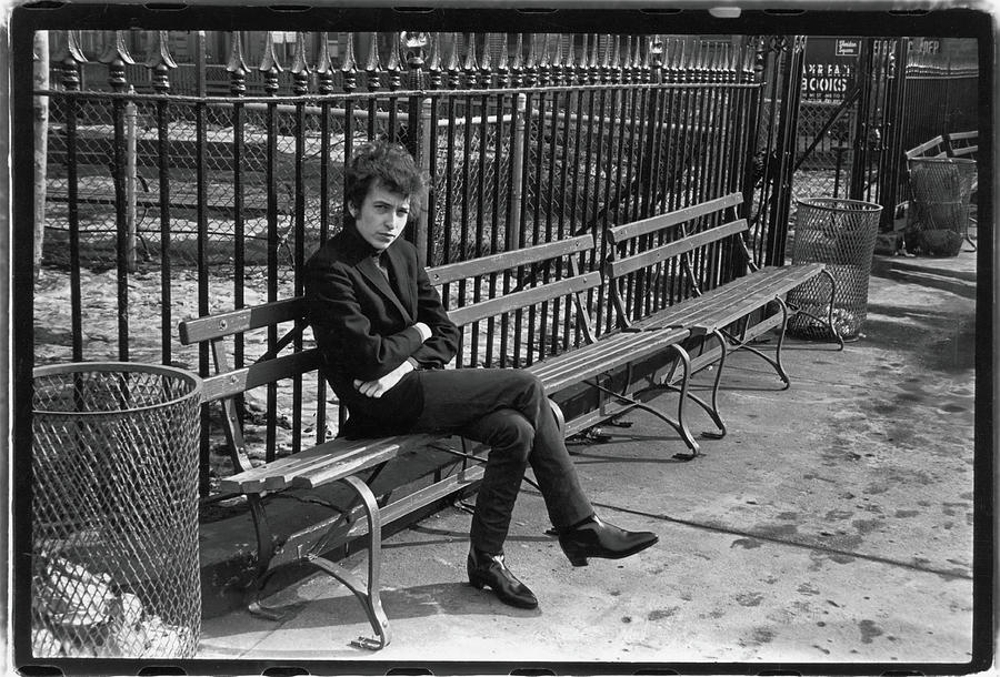 Dylan In Sheridan Square Park Photograph by Fred W. McDarrah