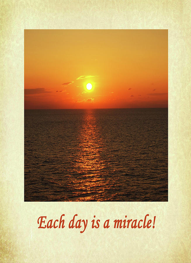 Each day is a miracle by Jacqueline Sleter