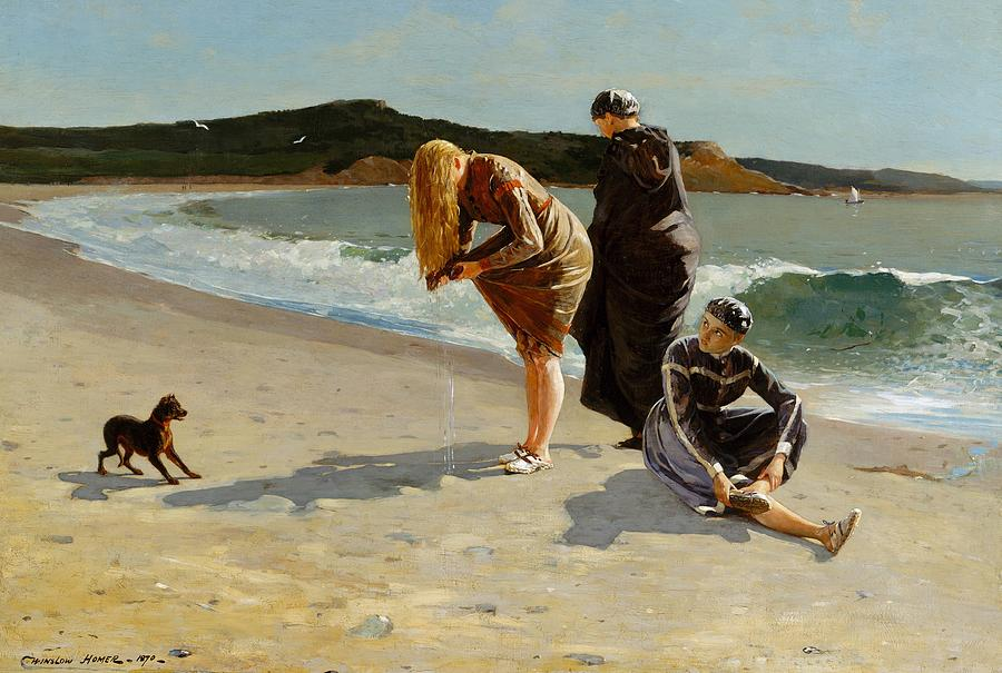 Painting Painting - Eagle Head, Manchester, Massachusetts by Winslow Homer