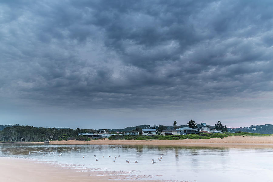 Early Morning Cloud Coverage at the Lagoon by Merrillie Redden