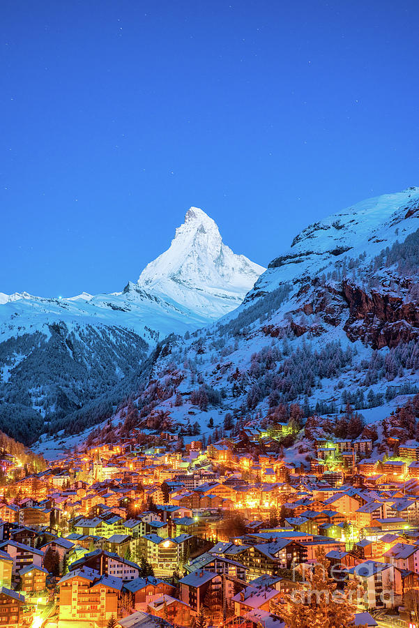 Early Morning Landscape View On Zermatt Photograph by Suttipong Sutiratanachai