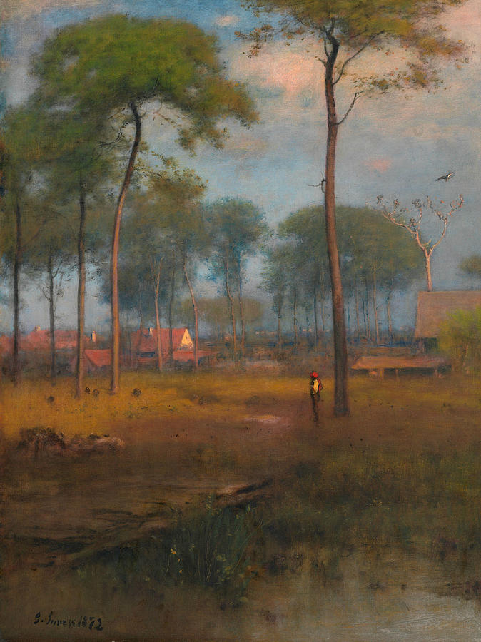 George Inness Painting - Early Morning, Tarpon Springs 1 by George Inness