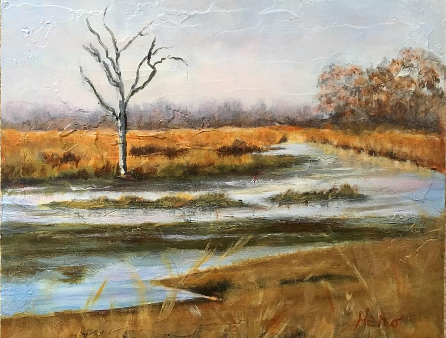 Spring Painting - Early Spring on the Marsh by Marcia Hero