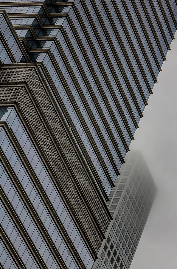 East Side High Rise Architecture and Fog by Robert Ullmann