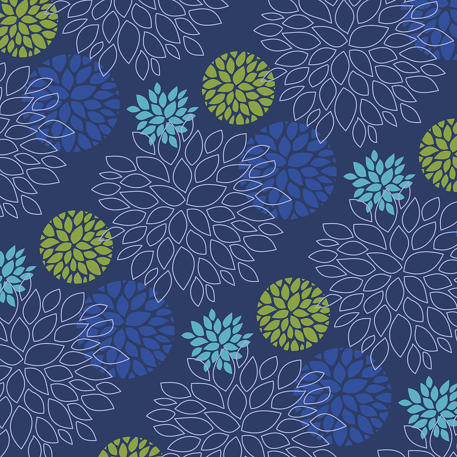 Eclipse Blue Floral pattern by Garden Gate magazine