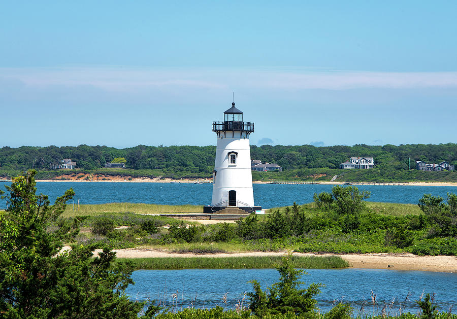 Martha's Vineyard Photograph - Edgartown Harbor Light - Marthas Vineyard by Brendan Reals