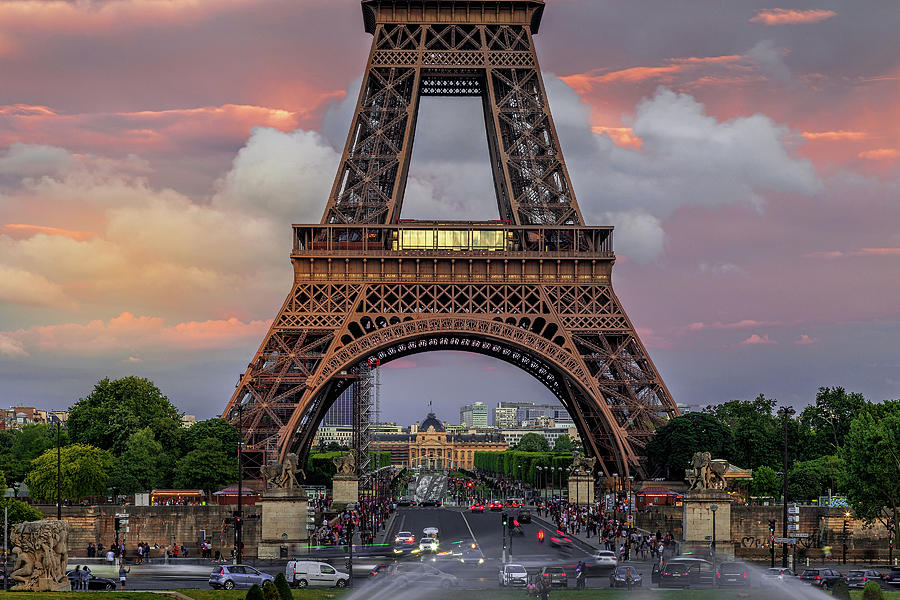Eiffel at Evening by Andrew Soundarajan