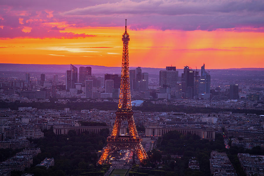 Paris Photograph - Eiffel At Sunset by Andrew Soundarajan