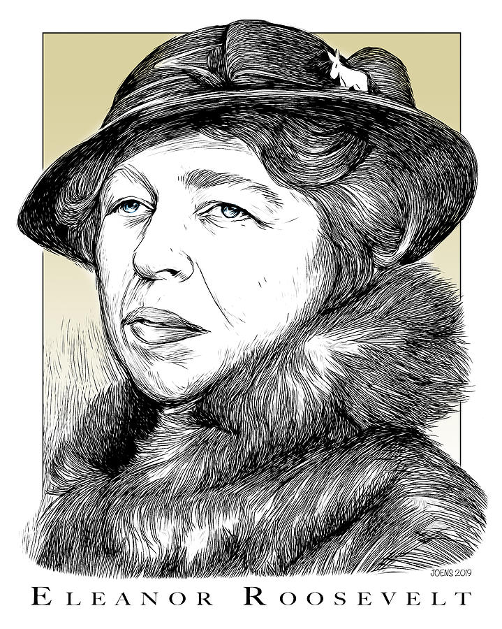 Eleanor Roosevelt Drawing