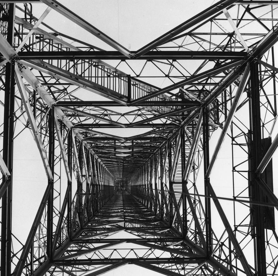 Electricity Pylon Photograph by Fox Photos