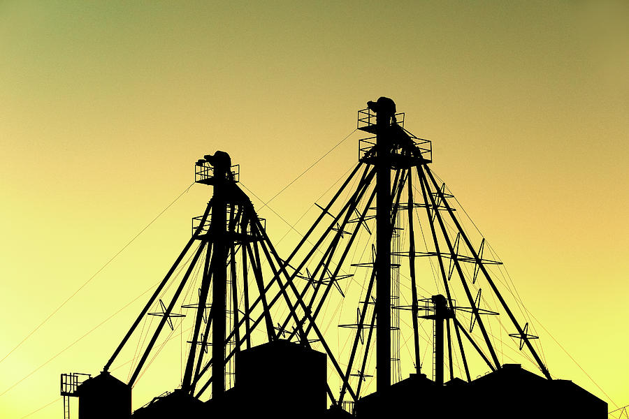 Fort Benton Photograph - Grain Elevator Silhouette by Todd Klassy