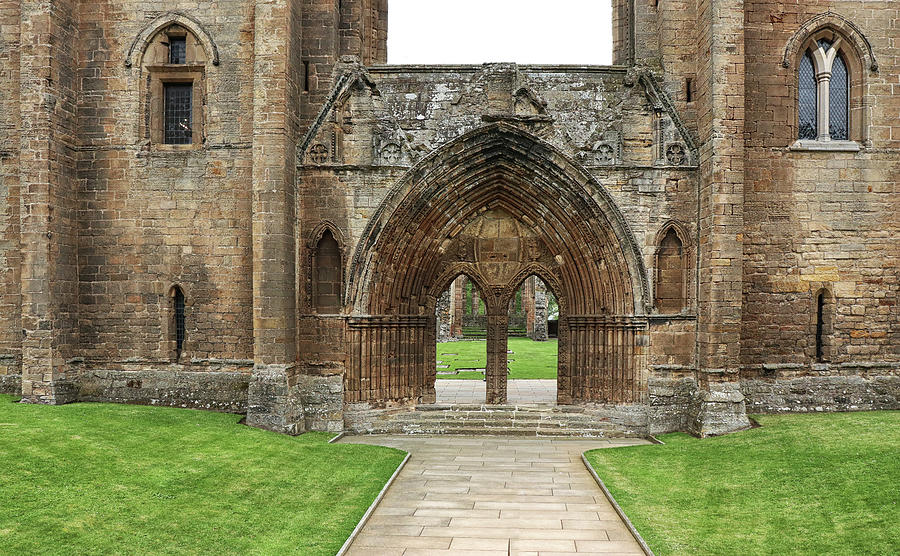 Elgin Cathedral Entrance by Dave Mills