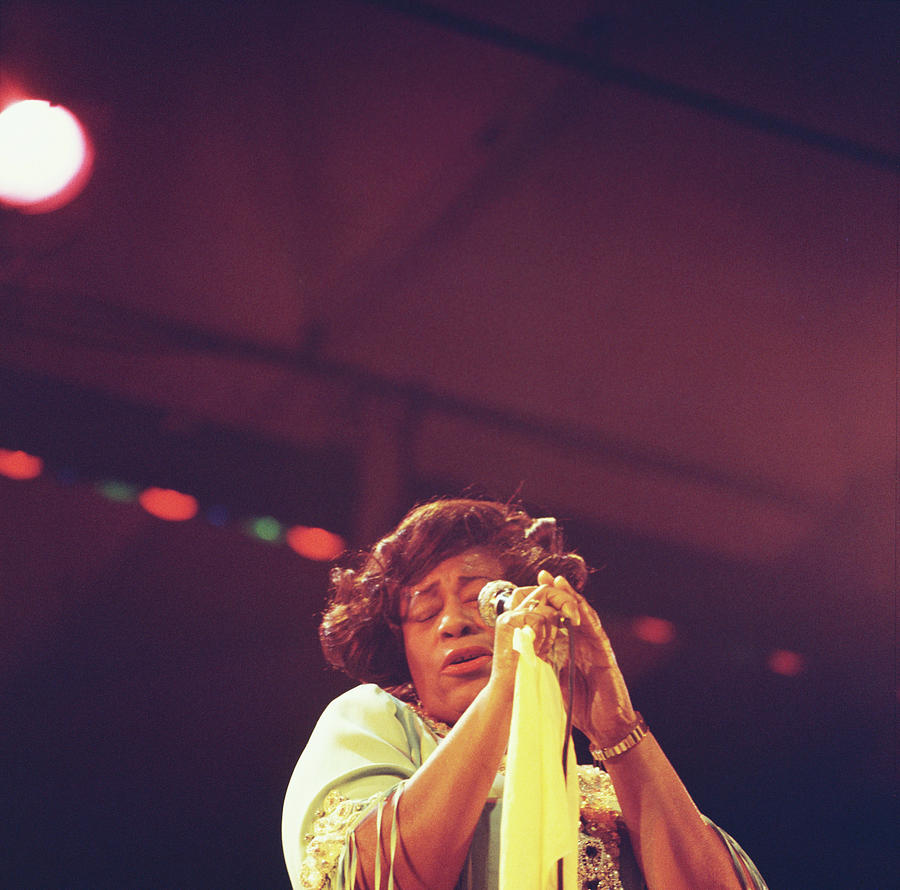 Ella Fitzgerald Performs On Stage Photograph by David Redfern