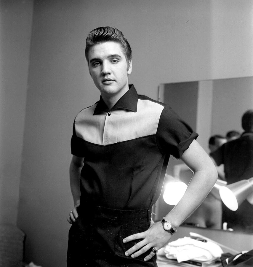 Elvis Presley On Milton Berle Photograph by Michael Ochs Archives
