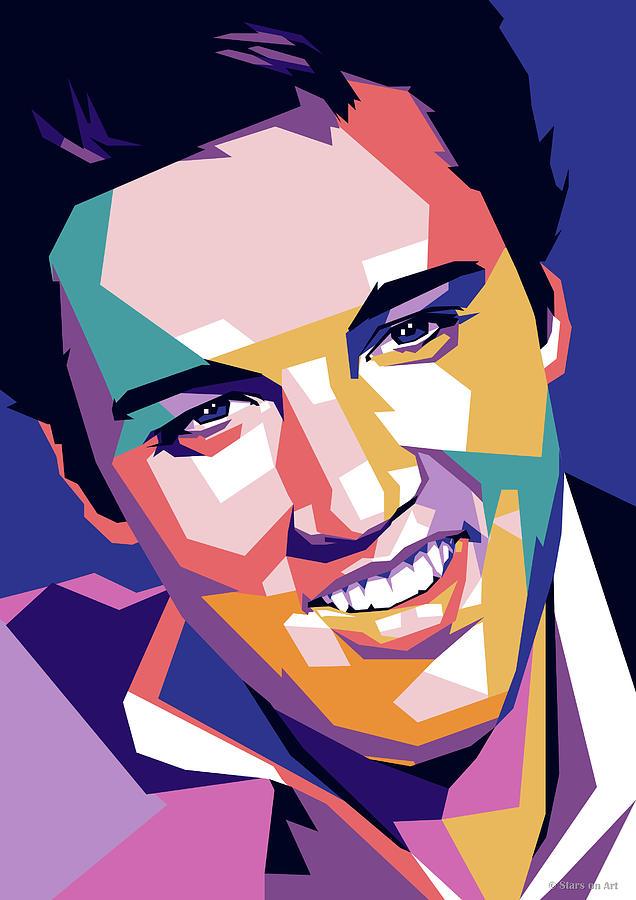 Elvis Digital Art - Elvis Presley by Stars on Art
