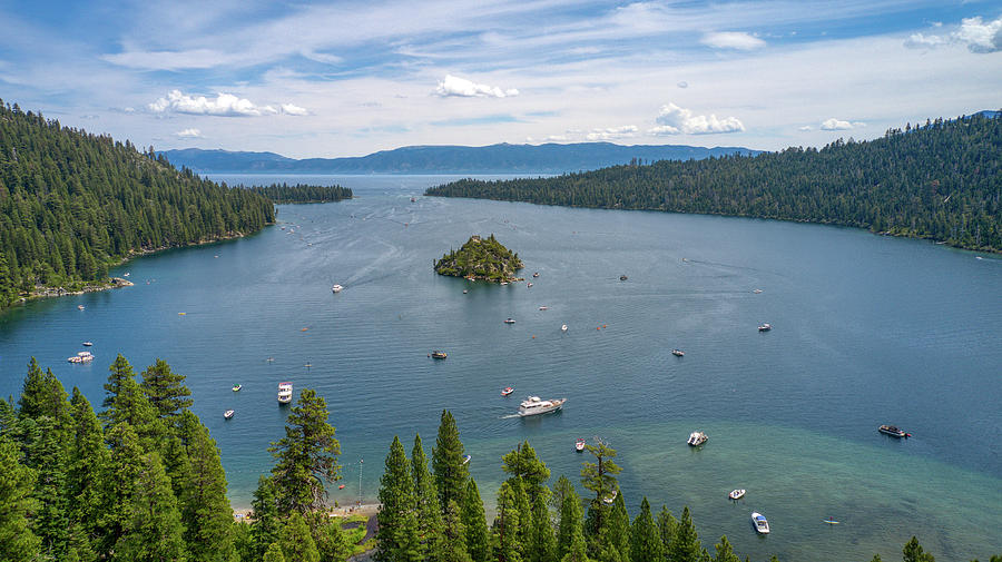 Emerald Bay Lake Tahoe California  by Ants Drone Photography