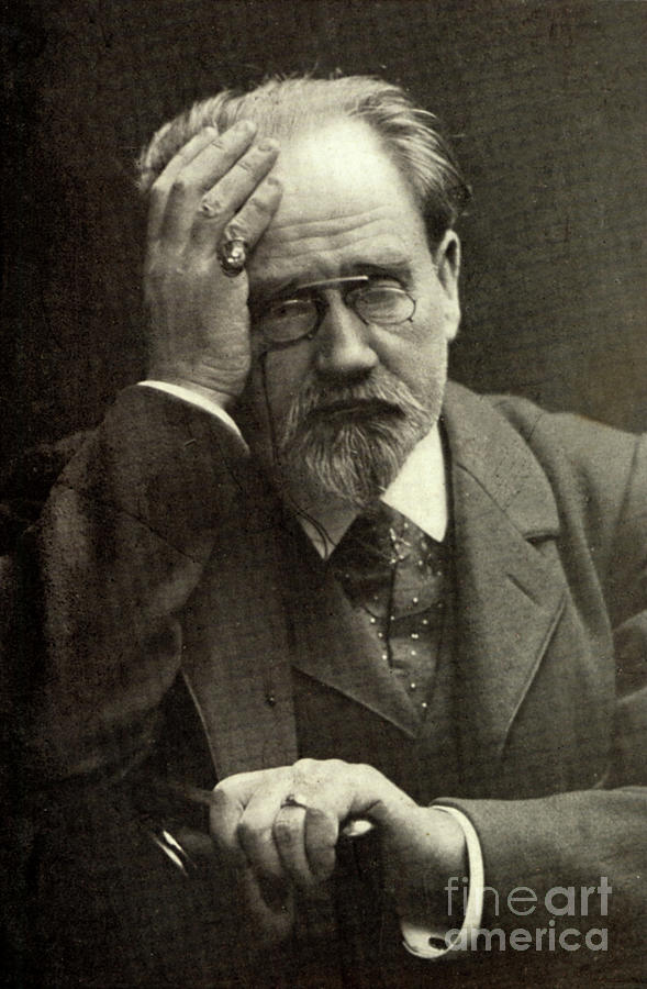 Emile Photograph - Emile Zola The French Novelist by French School