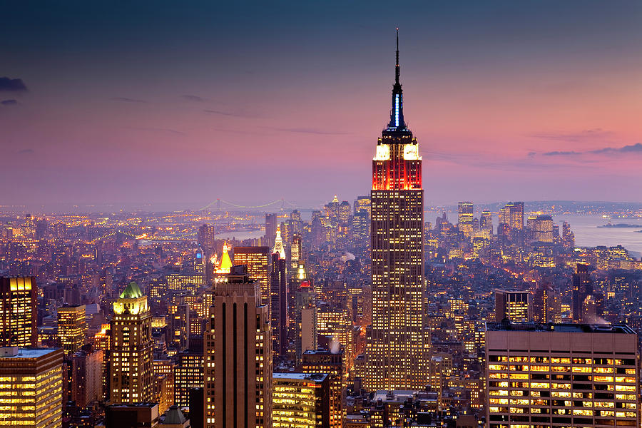 Empire State Building From Rockefeller Photograph by Richard Ianson