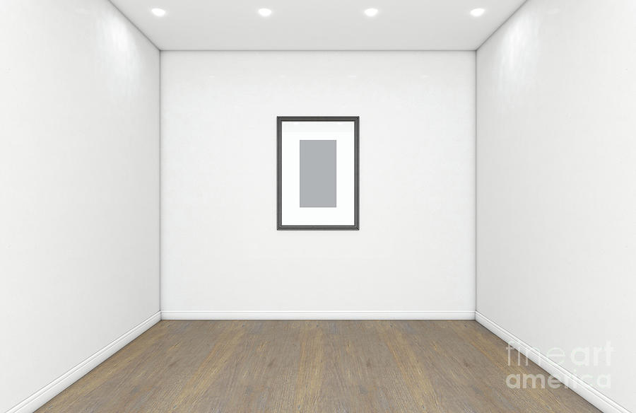 Picture Digital Art - Empty Gallery Room And Picture 1 by Allan Swart