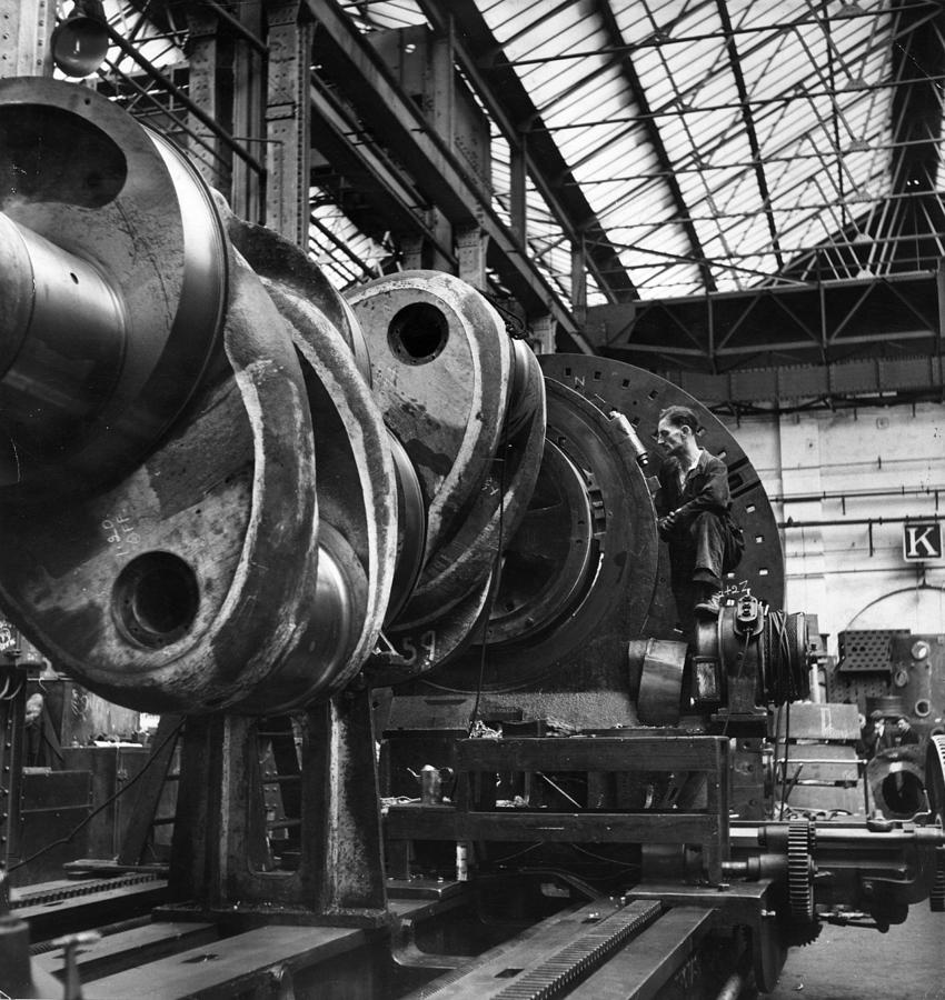 Engineering Workshop Photograph by Bert Hardy